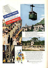 1952 French Government Tourist  PRINT AD France Paris Telepherique at Grenoble