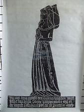 Brass rubbing BERE REIGIS MARGARET SKERNE 1596 .. 61B/1
