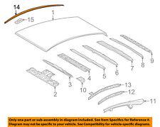 TOYOTA OEM 12-16 Prius V-Roof Molding Trim Left 7555647050