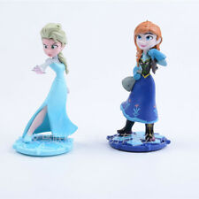 2pcs Frozen Princess Cake Toppers Disney Figures/toy  PVC 9-10cm tall