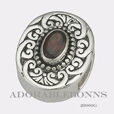 Authentic Lori Bonn Bonn Bons Silver January Jumpstart Garnet Slide Charm 29900G