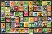 66 U S Precancel Stamps Used Perth Amboy NJ, Oskaloosa IA, Sherman TX, etc
