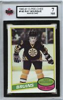 1980-81 O-Pee-Chee #140 Ray Bourque RC NM - Graded 7.0 (100519-181)