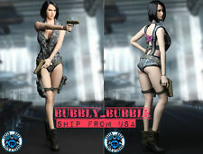 1/6 Sexy Female Fighter Head Sculpt Clothing Guns Set For Phicen Hot Toys USA