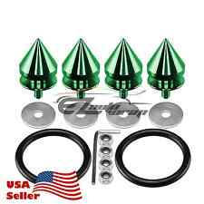 Green Spike Quick Release Fasteners For Car Bumpers Trunk Fender Hatch Lids Kit