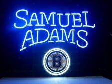 "Boston Bruins Samuel Adams Neon Lamp Sign 20""x16"" Bar Light Beer Glass Decor Pub"