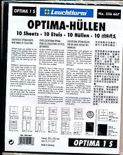 10 RECHARGES LEUCHTTURM OPTIMA 1 S - 1 poche fond noir