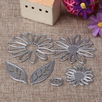 6 piece DIY Chrysanthemum Daisy Flower Die Set Metal Cutting Die Cutter Cards