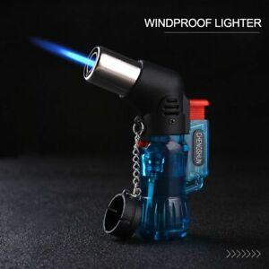 Jet Torch Cigarette Windproof Lighter Random Color Plastic Fire Ignition Burner