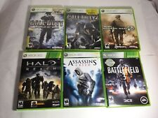 Call of Duty world at war Halo  Battlefield assassin's modern warfare 2 Xbox 360