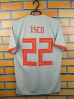 Isco Spain Jersey 2018 2019 Away S Shirt BR2697 Soccer Football Adidas Trikot