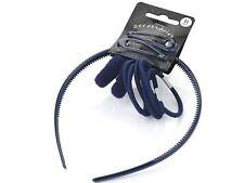 Accesorios Para El Cabello Azul Marino Escuela Snap Clip diadema pelo banda Bandeau Elástico