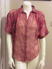 Polyester Button Down Shirt Cotton On Machine Washable Tops & Blouses for Women