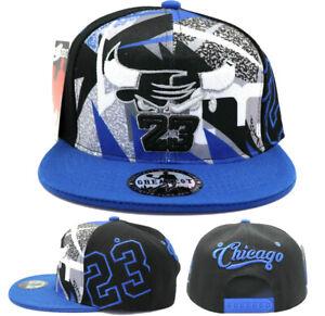 Chicago New Greatest MJ 23 Jordan Bulls Black Blue Fantasy Era Snapback Hat Cap