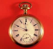 Antique Omega Swiss Pocket Watch 7 Jewel 18 Size S/N 4278682 Ca. 1913 - 1916