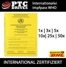 Internationaler WHO Impfausweis Original Impfpass Impfbuch Corona (1 - 50 St.)