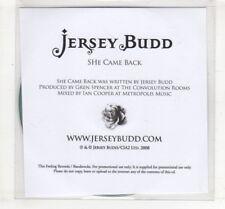 (HM122) Jersey Budd, She Came Back - 2008 DJ CD