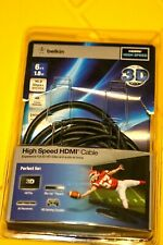 Belkin High Speed HDMI Cable 6 ft NEW opened box Ethernet HDTV Gaming