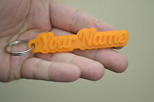 Personalised Keyring Rubber 3D Amazing Product Won't Scratch Your Vehicle/Bike