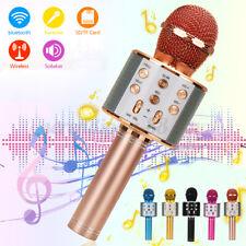 Mikrofon Karaoke Handmikrofon bluetooth für Kinder und Erwachsene Tragbares