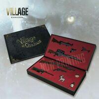 Capcom BIOHAZARD VILLAGE Playstation PS Miniature weapon& Art book set