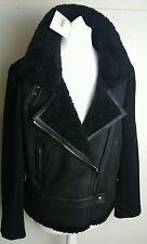 Bnwt Farhi, by Nicole Farhi shearling/wool 'flying' jacket.uk 16 £795