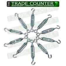 10 x Galvanised 6mm Turnbuckles Wire Tensioner Barrel Straining Screws BULK PACK