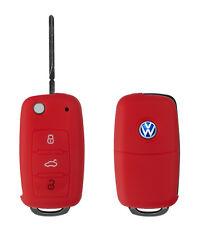 Silicon Case rot f VW 3-Tasten Autoschlüssel Key Case Schlüssel Hülle Cover