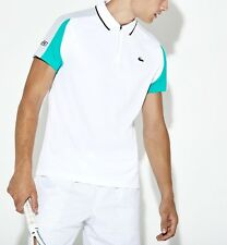 LACOSTE POLO SHIRT BNWT - 3XL T8 - WHITE - SPORT ULTRA DRY - DH9480