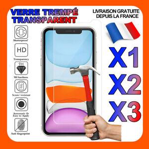 VERRE TREMPÉ VITRE PROTECTION FILM ÉCRAN IPHONE 8 7 6S 6 PLUS 5 XR XS MAX 11