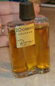 Vintage Dana 20 Carats Cologne New York 2/3 Ounce Bottle 95% Full Gold Flakes