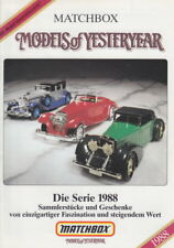 "Matchbox ""Models of Yesteryear Katalog"" 1988 deutsch"