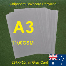 35X A3 Chipboard Boxboard Cardboard Recycled Gray Card 1100gsm 2.0mm