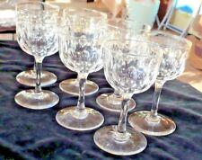 7 VICTORIAN SHERRY GLASSES SLICE CUT