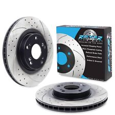 FRONT DRILLED GROOVED 300mm BRAKE DISCS PAIR FOR HONDA CIVIC 2.0 TYPE R EP3