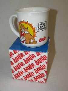 New Old Stock!! Vintage Annie Mug * The Sun'll Come Out Tomorrow * 1982