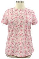 Isaac Mizrahi Live Large Pink Tie-Dye Short Sleeve Scoop Neck T-shirt A378057