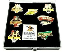 New listing Vintage Anheuser Busch Bud Bowl Commemorative Pin Set 7 Pins