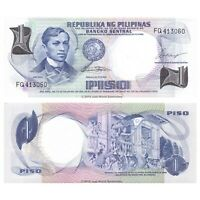 Philippines 1 Piso ND (1969) P-142a Sig. 7  Banknotes UNC