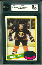 1980 TOPPS #140 RAY BOURQUE RC KSA 8.5 NM MINT UNSCRATCHED BOSTON BRUINS ROOKIE