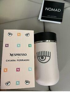 NESPRESSO CHIARA FERRAGNI Stainless Travel Mug Nomad 300ml Pink,new
