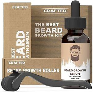 Beard Growth Kit - Hair Growth & Hair Serum - Beard Growth Oil and Beard Roller
