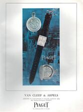 ▬► PUBLICITE ADVERTISING AD Montre Watch Van Cleef & Arpels PIAGET 1964