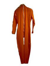 Latex Catsuit orange unisex, Ganzanzug , Catsuite ; (getragen)