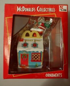 Vintage McDonald's Christmas Ornament Happy Meal New In Box
