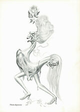 1950s Vintage Artzybasheff Bipolar Manic Depression Surrealist Art Print