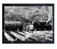 Historic Chinook Logging Co. - Deep River, Washington Train Postcard