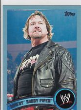 2011 TOPPS WWE ROWDY RODDY PIPER BLUE PARALLEL WRESTLING CARD #92  2011 MADE