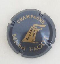 capsule champagne FAGOT michel n°6 bleu acier et or