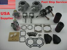 Banshee YFZ350 STD 64mm S Cylinder Piston Gasket Crank Carb Air Fuel Filter kit